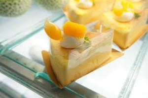 マンゴーのスフレチーズ